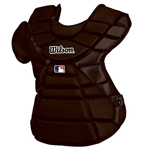Wilson Silver Series Hinge FX 2.0 Baseball Catcher's Chest Protector (Black, 16-Inch)