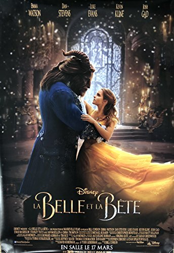 (BEAUTY AND THE BEAST (2017) Original Authentic Movie Poster 27x40 - Dbl-Sided - FRENCH VERSION - FINAL - Emma Watson - Dan Stevens - Luke Evans - Kevin)