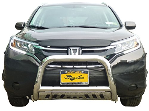 VANGUARD Off Road VGUBG-1050SS Multi-fit Bumper Guard Stainless Steel Bull Bar with Tube Skid Plate