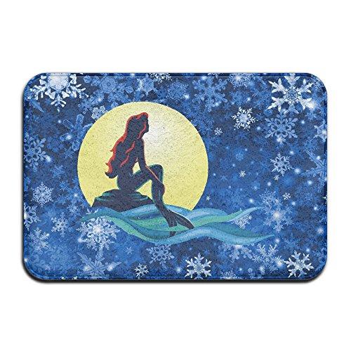 Personalized Indoor Or Outdoor Doormat - Little Mermaid Kitchen Doormat Bath Mat, Non-slip And Thin Design, Size 40X60CM (The Little Mermaid Bath Mat)