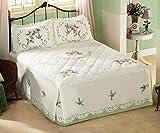 Floral Hummingbird Bedspread, Multi, King