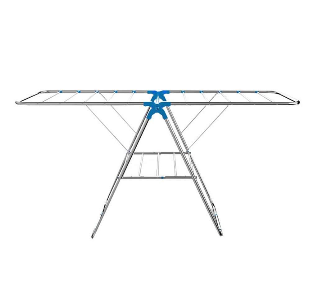 翼折りたたみ衣類アイレア乾燥ラック翼付きステンレス鋼衣類乾燥レール B07KX2GKMW