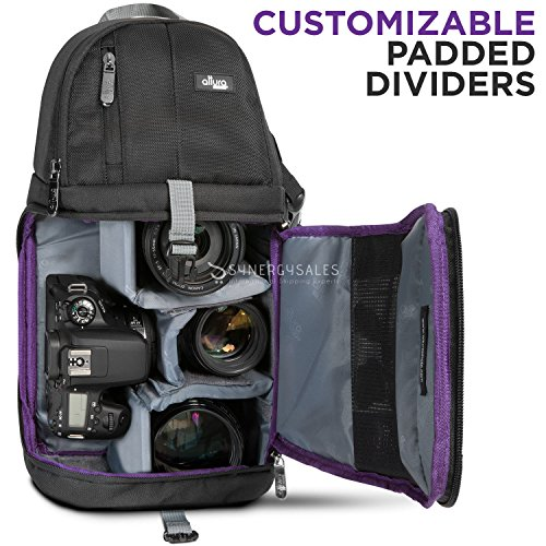 Camera Sling Backpack Bag Case for DSLR Canon Nikon Sony Fuj