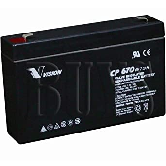 SLA0925 PC670 CFM-6V6.5 6V 7Ah F1 AGM Battery Replaces ERB-0606 ELB-0607 PM670 CB670 118-0013 3WDC1 5EFF5 CF-6V7 RBC18 BAT67 2UKJ6 4PG76 RBC34 PRB67 ELK-0675 BSL0925 S68 ELB0607