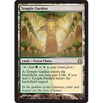 magic the gathering temple garden 248 return to ravnica foil - Temple Garden