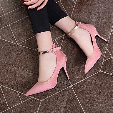Zormey La Mujer Club Verano Tacones Zapatos De Cuero De Vaca Oficina &Amp; Carrera Rubor Rosa Fucsia Rojo Negro Gris 36