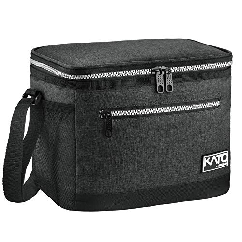 Insulated Lunch Bag for Women Men, Leakproof Thermal Reusable Lunch Box for Adult & Kids, Lunch Cooler Tote for Office Work by Tirrinia, Charcoal