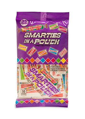 Smarties in a Pouch Assorted Flavor Candy Pieces, 3.25 oz Bag, Pack of 3 ()