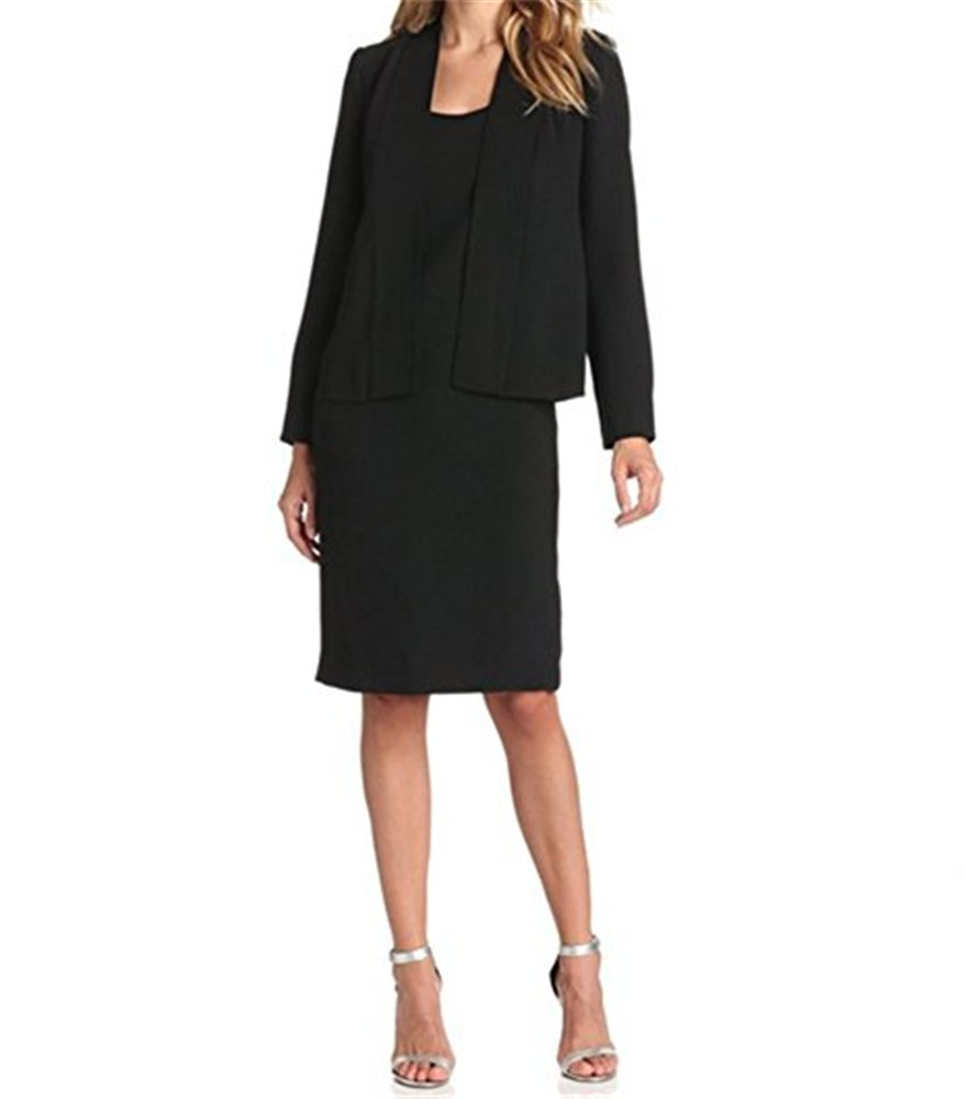 ViviClo Women's Two Pieces Long Sleeve Black Suit Dress Sets