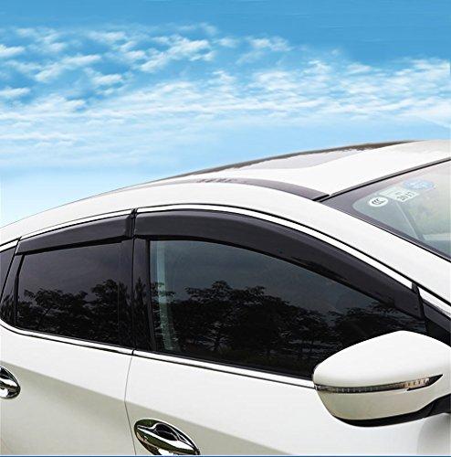 (Vesul Updated Side Window Visor Rain Sun Wind Deflectors Guard Vent Shade Smoke Gray Fits on Nissan Murano 2015 2016 2017 2018 2019)