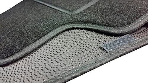 Negro DE 1998/A 2007 Lupex Shop 1/Alfombrillas Coche de moqueta Negra con Velcro Compatibles para Smart 2/A Serie W450/
