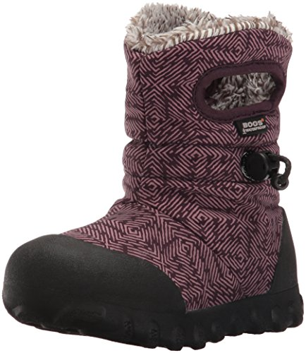 Price comparison product image Bogs B-Moc Dash Puff Winter Snow Boot (Toddler/Little Kid/Big Kid), Plum/Multi, 13 M US Little Kid