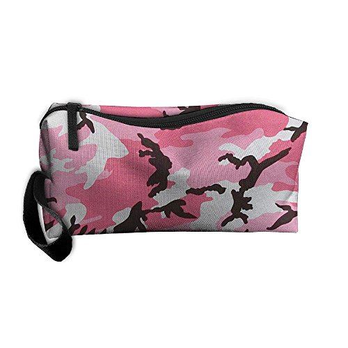 Cosmetic Bags Brush Pouch Makeup Bag Pink Camouflage Zipper Wallet Hangbag Pen Organizer Carry Case Wristlet Holder]()
