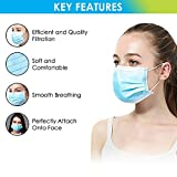 150 Pcs 3-ply Blue Disposable Earloop Face Medical