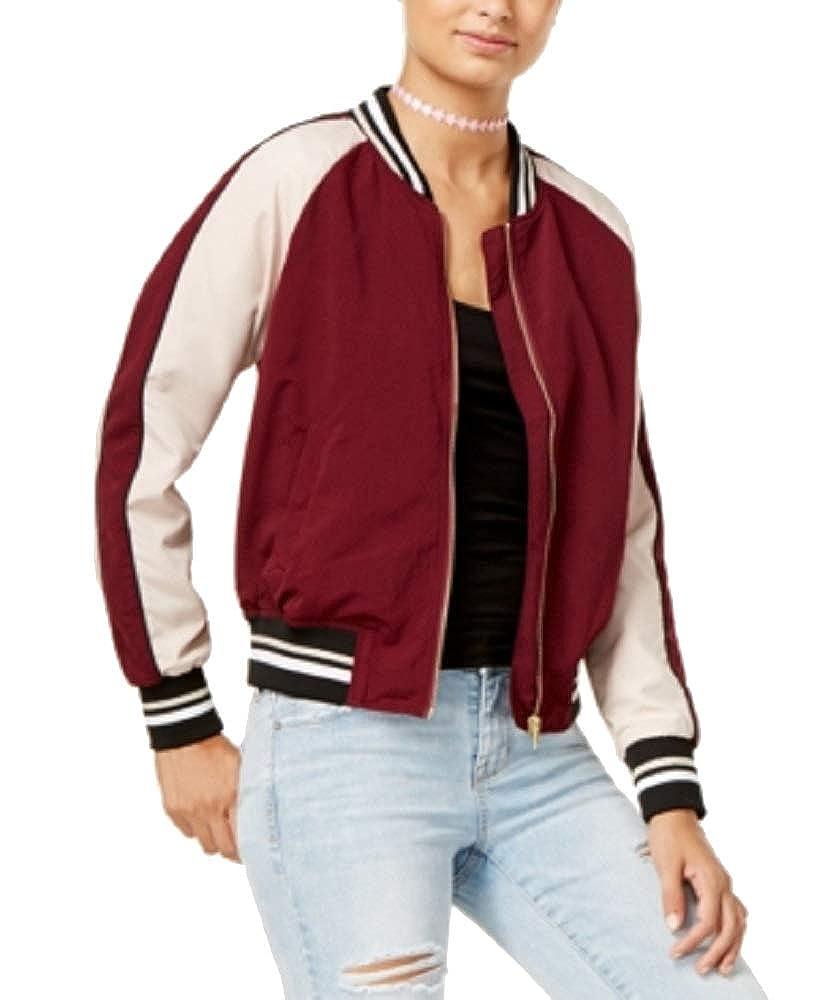 Hippie Rose Juniors Cropped Varsity Bomber Jacket