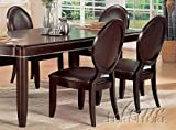 Set of 2 Dining Chairs Wenge Finish For Sale