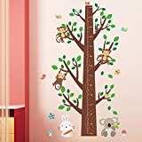 Clearance!! ZOMUSA Jungle Monkey Tree Kids Baby Nursery Wall Sticker Mural Decor (Multicolor)