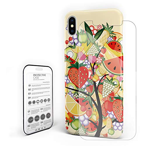 Case for iPhone 7/ iPhone 8 Apple Banana Colorful Fruit Collection Tree Art Prints Professional Hard PC Material Shockproof Protective Case,Custom Cover for iPhone