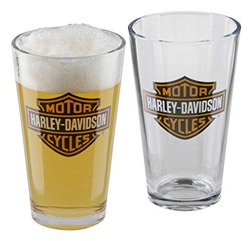 Harley-Davidson Core Bar & Shield Logo Pint Glass Set - 16 oz. HDX-98706