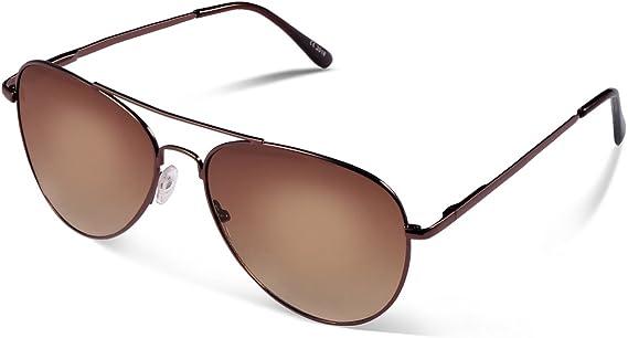 Occffy Gafas de sol Para Hombres y Mujeres con Marco Metal UV400 Protección Oc7802