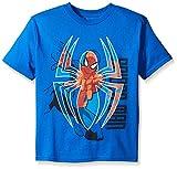 Marvel Boys' Little Boys' Spiderman Web Shooting Short Sleeve T-Shirt, Royal, Medium/5/6