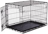 AmazonBasics Single-Door Folding Metal Dog Crate - Medium (36x23x25 Inches)
