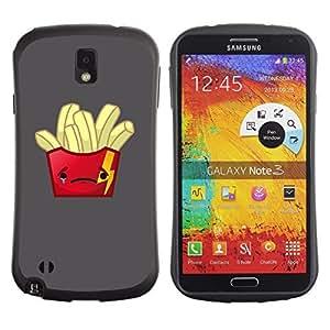 Hybrid Anti-Shock Bumper Case for Samsung Galaxy Note 3 / Sad Fries