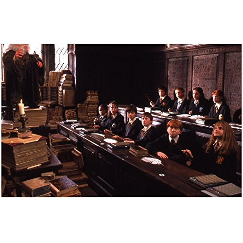 Harry Potter 8 Inch x 10 Inch Photo from Slide Young Cast in Class kn