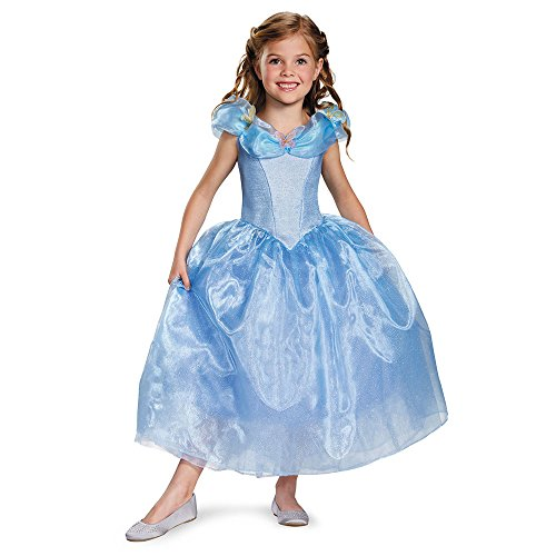 Disguise Cinderella Movie Deluxe Costume, Medium (7-8) (Halloween Costumes That Begin With P)