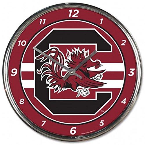 - NCAA South Carolina Gamecocks WinCraft Official Chrome Clock