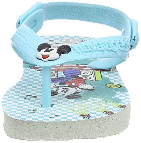 Havaianas Baby Mickey Minnie Chanclas, Niños Multicolor (Blanco / Azul 0093)