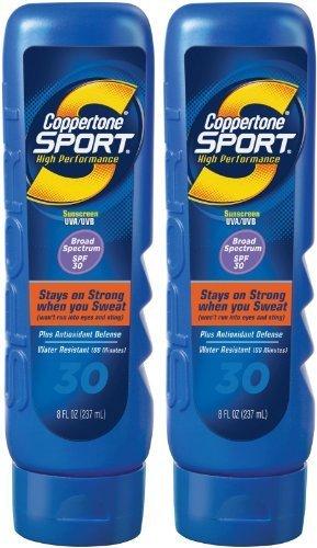 Coppertone Sport Lotion SPF 30 Sunscreen-8 oz, 2 pack