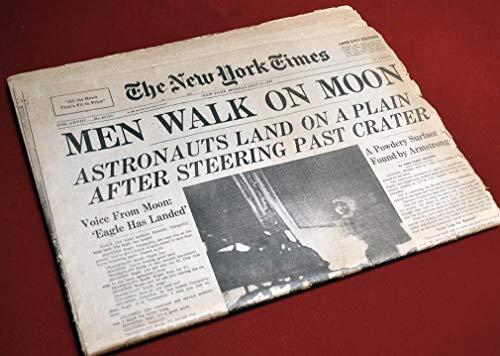 APOLLO 11 Newspaper RARE New York Times, July 21, 1969, NASA Armstrong & Aldrin