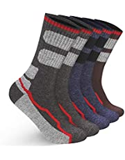 ANGUO Men's Merino Wool Socks 5 Pack for Walking Sport Hiking