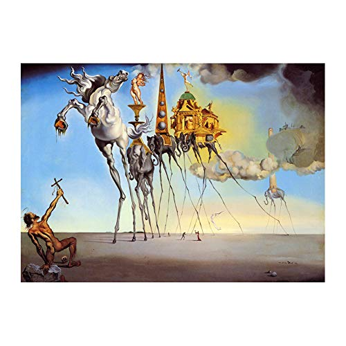Salvador Dali The Temptation of Saint Anthony Poster Wall Decor 24x36 Inches Art Print Photo Paper Material Unframed ()
