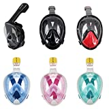 Trax To Tracks Full Face Snorkel-Dive Mask provides Anti Fog Snorkeling-This Recreation Dry Snorkel Set comes with Snorkel Bag-Free Gift GoPro Attachment- For Adults, Youth, Children