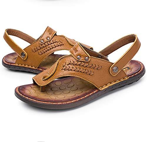 Sandali 2 Da In Wagsiyi Dimensione Scarpe Pelle Colore 3 Con Marrone 38 Sportivi E Sandali Traspiranti Uomo EU da spiaggia pantofole Marrone Sandali AgA8pSH