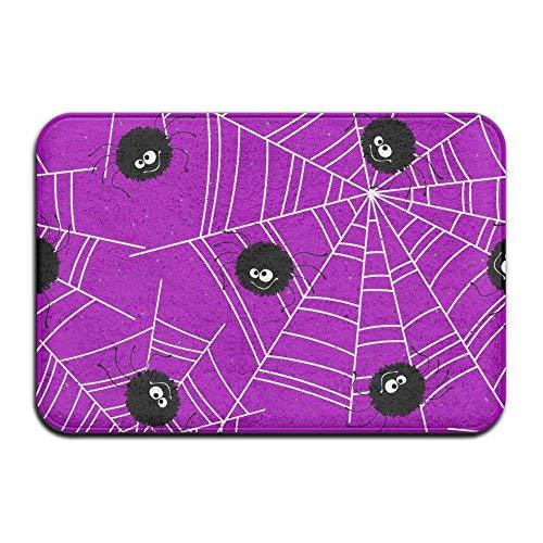 (Carl McIsaacDoor Indoor Welcome Personalized Hello Doormat, Cute Halloween Spiders, Kitchen Bathroom Bedroom Living Room Entrance Mat 16 x 24)