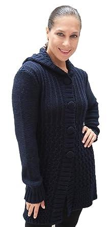 Superfine Alpaca Wool Hooded Hoodie Sweater Coat Womens at Amazon ...