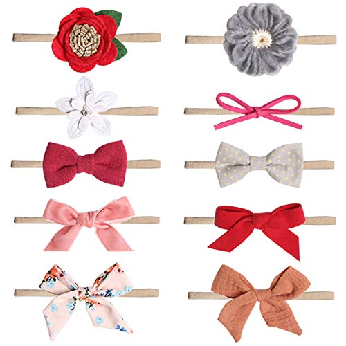 (Baby Girl Headbands and Bows, Newborn Infant Toddler Hair Accessories (ST12))