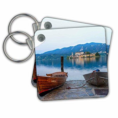 Danita Delimont - Italy - Isola San Giulio. San Giulio Island. Lake Orta. Piedmont. Italy. - Key Chains - set of 2 Key Chains (kc_249336_1) Isola Island
