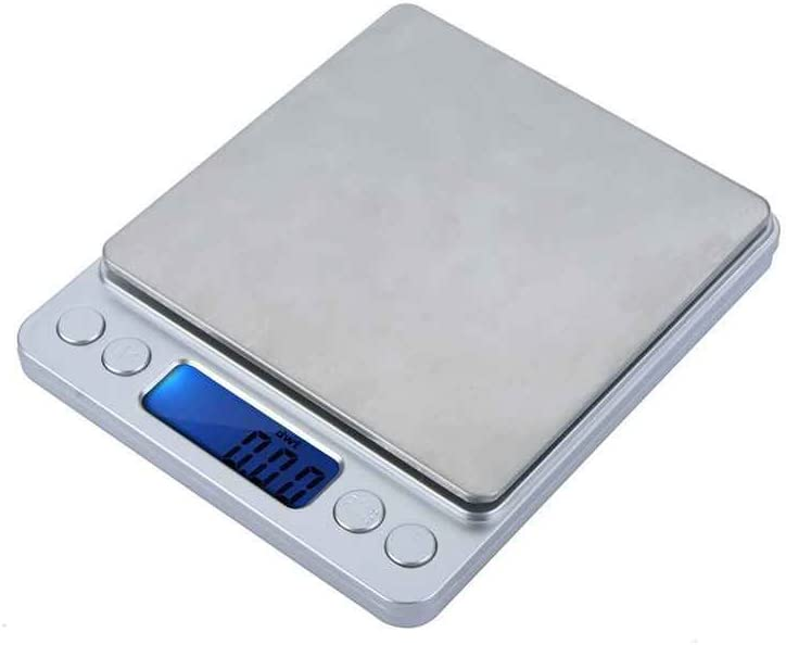 Bomcomi WH-I2000 300g//500g x 0.01g 2000g x Scale300g//500g x 0.01g Jewelry 0.1g Digital Platform Jewelry Scales High Accuracy Electronic Kitchen Scale With 2 Tray