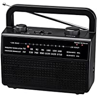PR-157 AM/FM 2 Band Portable Radio, Black