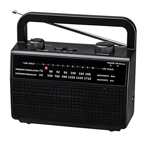 PR-157 AM/FM 2 Band Portable Radio AC operated or operated by dry battery (