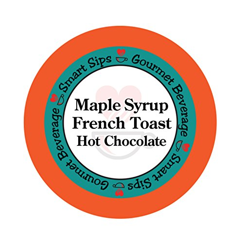 Jamaican Rum Cream - Smart Sips, Maple Syrup French Toast Hot Chocolate, 24 Count, Single Serve Hot Cocoa Cups Compatible With All Keurig K cup Machines (24)