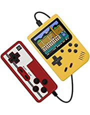 400 in 1 Portable Retro Game Console Handheld Game Advance Players Boy 8 Bit Hand-held Gaming Device 3.0 Inch LCD Sreen Support TV,Yellow