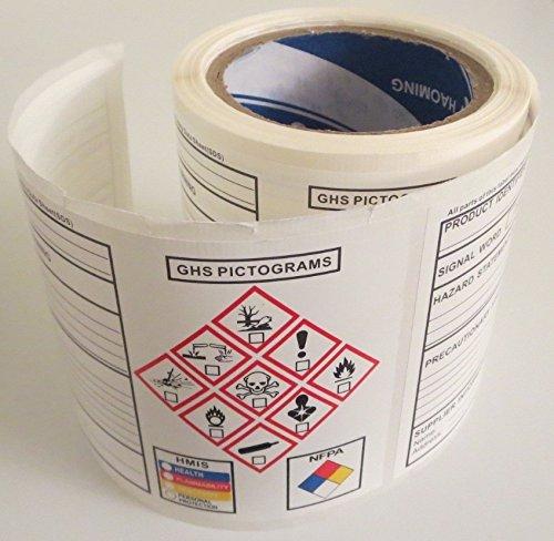 NEW GHS Chemical Label OSHA HMIS NFPA Diamond Label Safety