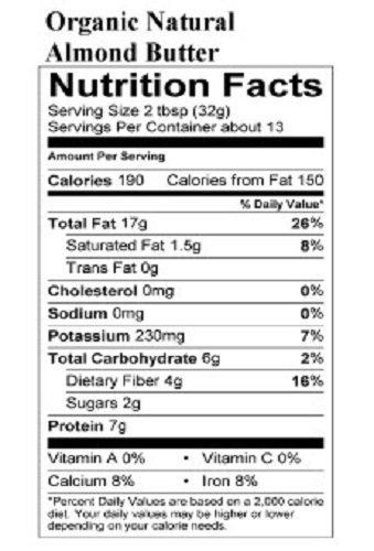 Naturally Nutty - 15oz. ORGANIC Almond Butter