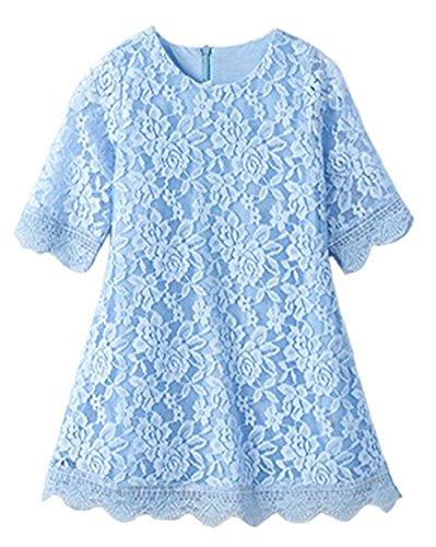 3/4 length sleeve flower girl dresses - 2