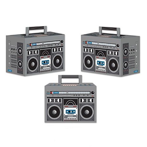 Boom Box Favor Boxes, 4-inch By 5-3/4-inch (1 Count) (3/pkg)